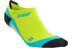 cep No Show - Chaussettes course à pied - jaune/turquoise